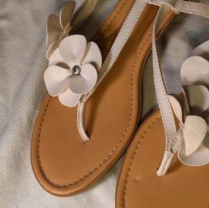 St.John's Bay White Sandals